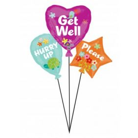 "31""x27"" GET WELL BALLOON CLUSTER (PK)"