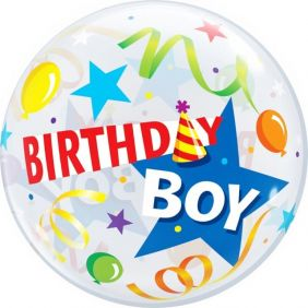 "22"" SB BIRTHDAY BOY PARTY HAT PK"