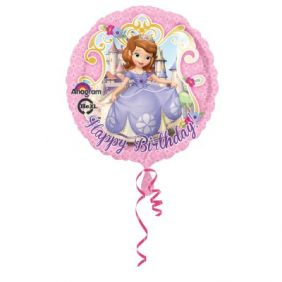"17"" RND SOFIA THE FIRST HAPPY BDAY (PK)"