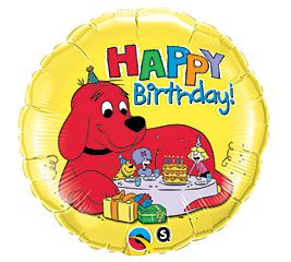 "18"" RND CLIFFORD BIRTHDAY (PK)"