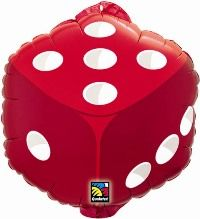 "18"" DICE HELIUM-FILL (W/HANG TAB)(PK)"