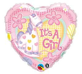 "09"" HRT IT'S A GIRL PONY FOIL"