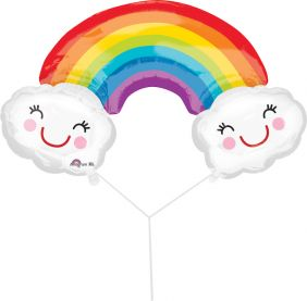 "37""X22"" SHAPE RAINBOW WITH CLOUDS (PK)"