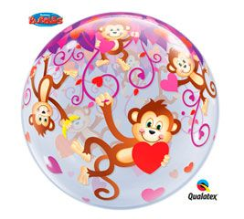 "22"" LOVE MONKEYS SINGLE BUBBLE (PK)"