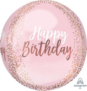 "15""X15"" ORBZ BLUSH BIRTHDAY (PK)"