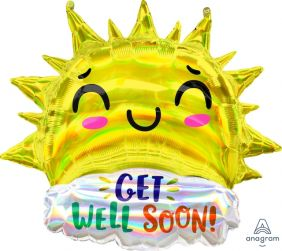 "29""X27"" HLG GET WELL HAPPY SUN (PK)"