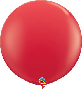 3FT RND RED 2CT QUALATEX PLAIN LATEX