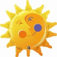"DISC~35"" SMILIN' SUN FOIL"