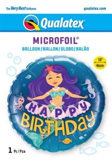 "18"" RND HAPPY BIRTHDAY MERMAID (PK)"