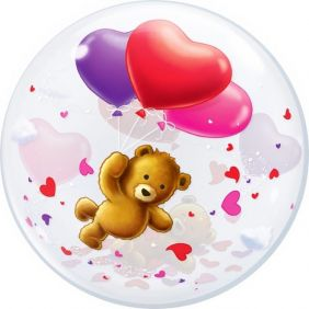 "22"" SB TEDDY BEAR'S FLOATING HEARTS PK"