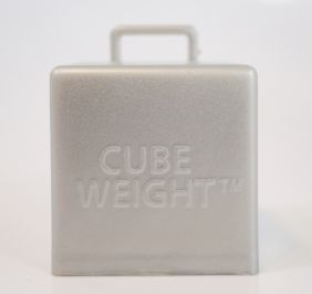 65GM CUBE WEIGHT METALLIC SILVER 10CT