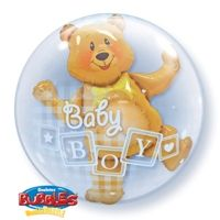 "24"" BABY BOY BLOCKS & BEAR (PK) D.BUBBLE"