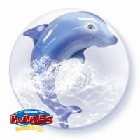 "24"" JUMPING DOLPHIN (PK) DOUBLE BUBBLE"