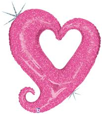 """37"""" CHAIN OF HEARTS PINK HLG"""