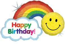 "45"" HAPPY BDAY RAINBOW HLG (PK)"
