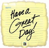 "09"" SQUARE MEMO HAVE A GREAT DAY! FOIL"