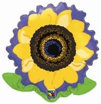 "DISC~23"" FLOWER SUNFLOWER FOIL"