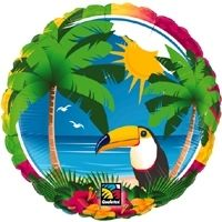 "18"" RND TROPICAL TOUCAN FOIL"