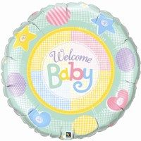 """36"""" RND WELCOME BABY SOFT PATTERNS FOIL"""