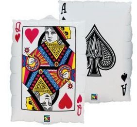 "30"" QUEEN OF HEARTS/ACE OF SPADES (PK)"