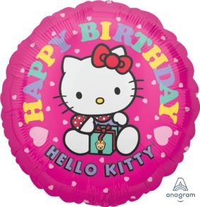 "18"" RND HELLO KITTY BDAY (PK)"