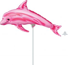 "14"" OCEAN PINK DOLPHIN FOIL"