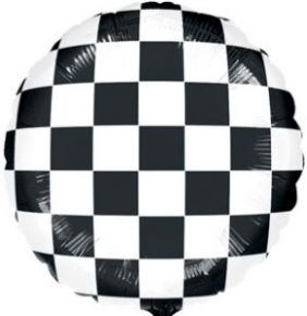 "18"" RND HX CHECKERBOARD BALLOON (PK)"