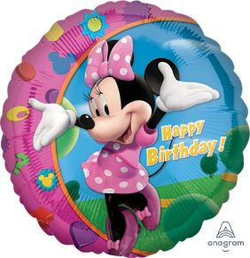 "18"" RND MINNIE HAPPY BIRTHDAY (PK)"