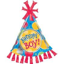"35""x25"" BIRTHDAY BOY PARTY HAT (PK)"