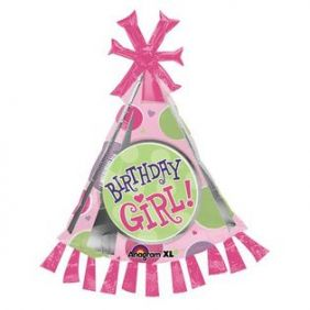 "35""x25"" BIRTHDAY GIRL PARTY HAT (PK)"