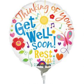 "09"" RND GET WELL MESSAGES FOIL"