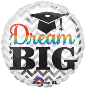 "09"" RND DREAM BIG GRAD FOIL"