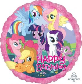 "17"" RND MY LITTLE PONY BIRTHDAY (PK)"