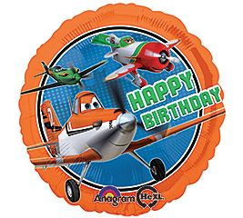 "17"" RND DISNEY PLANES HAPPY BDAY (PK)"