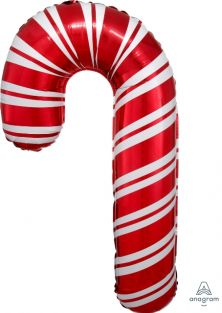 "20""x37"" HOLIDAY CANDY CANE FOIL"