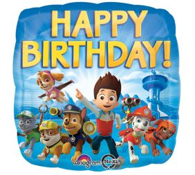 "17"" SQ PAW PATROL HBDAY (PK)"