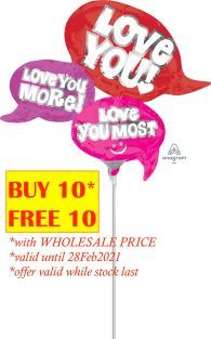 MINI SHAPE ALL YOU NEED IS LOVE FLAT FOIL