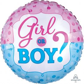 "18"" RND GENDER REVEAL (PK)"