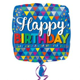 """18"""" SQ HDAY PRIMARY TRIANGLES (PK)"""