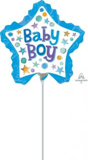 MINI SHAPE BABY BOY STAR WITH RUFFLE FLAT FOIL