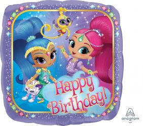 "18"" SQ SHIMMER&SHINE HAPPY BDAY(PK)"