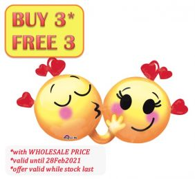 """36"""" EMOTICONS IN LOVE (PK)"""