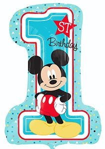 "28"" MICKEY 1ST BDAY BOY (PK)"