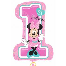 "28"" MINNIE 1ST BDAY GIRL (PK)"