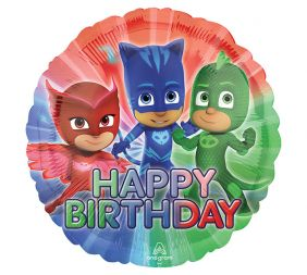 "17"" RND PJ MASKS BIRTHDAY (PK)"