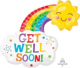 "30""x30"" GET WELL HAPPY RAINBOW (PK)"