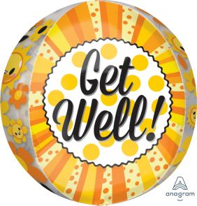 "15""X16"" ORBZ GET WELL HAPPINESS (PK)"