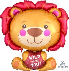 "26""x28"" WILD ABOUT YOU LION (PK)"