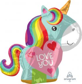 "17""x21"" JR.SHP UNICORN LOVE (PK)"