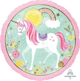 "18"" RND MAGICAL UNICORN HOLO (PK)"